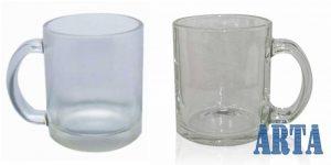 لیوان شیشه ای براق